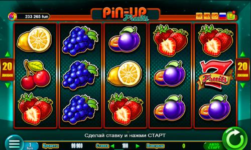 Игровой автомат Pin-up fruits играть на телефоне